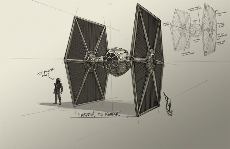 Imperial Tie Fighter , Shane Molina on ArtStation at https://www.artstation.com/artwork/imperial-tie-fighter