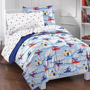 Dream Factory Planes and Clouds Complete Bed in a Bag Bedding Set