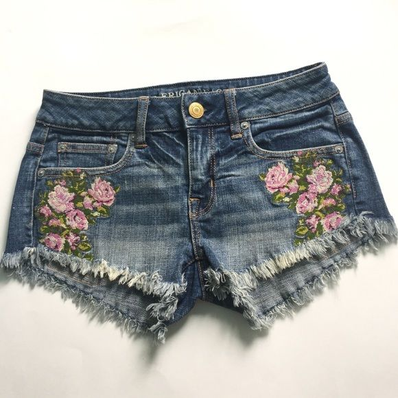 American eagle outfitters embroidered shorts Super cute bought and never wore. American Eagle Outfitters Jeans