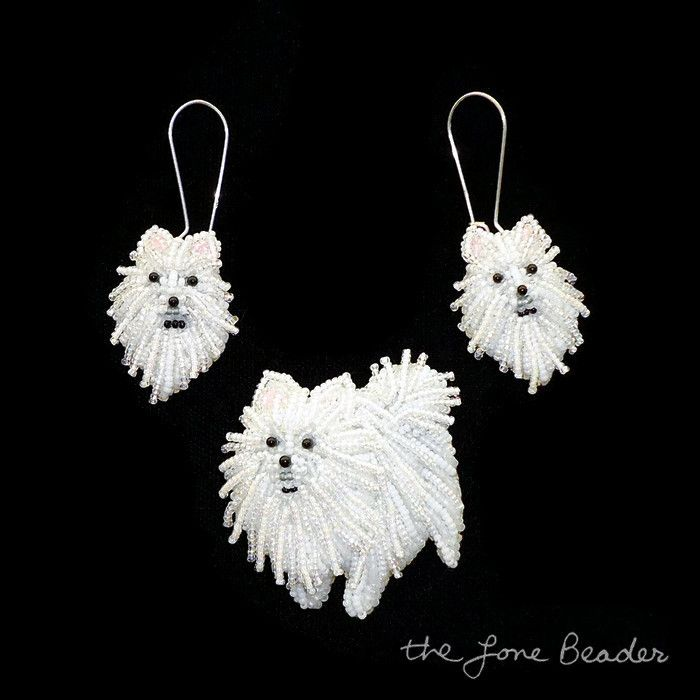 Beaded #Pomeranian Jewelry Set & New Custom #Beadwork by thelonebeader
