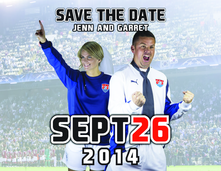 Soccer Save the Date. Soccer wedding.