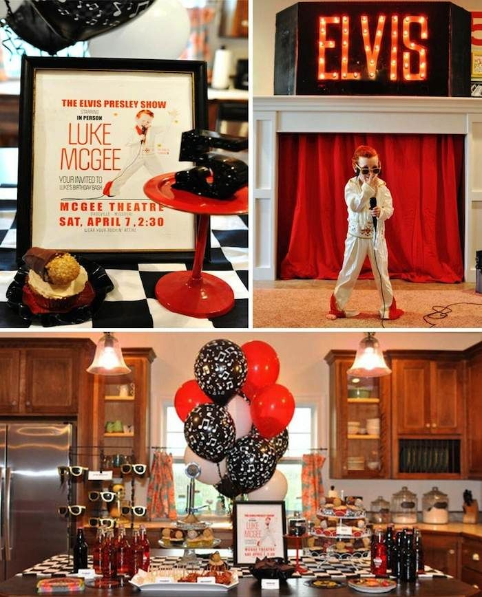 Elvis Party with Lots of Fun Ideas via Kara's Party Ideas | KarasPartyIdeas.com #MusicParty #PartyIdeas #ElvisParty