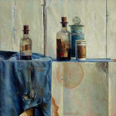 stilllifequickheart:    Ben Snijders  Still Life with Bottles  1943