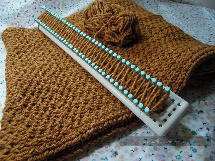 how to purl on a knitting loom | Craftasaurus Rex