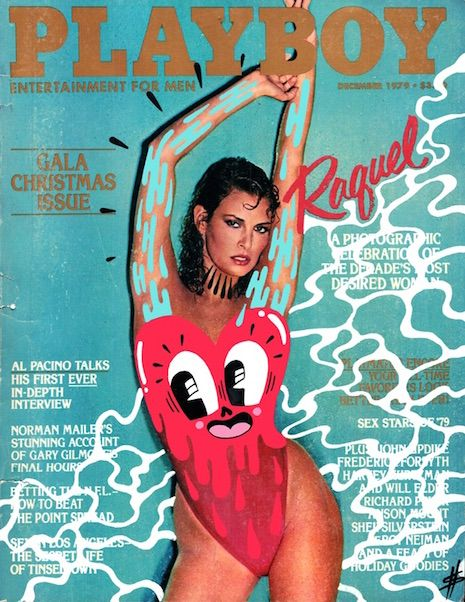 Old Playboy covers, 'doodle-bombed' | Dangerous Minds