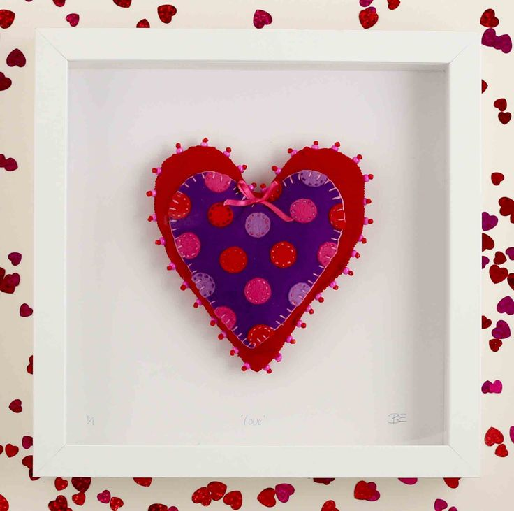 Beverley Edge - 'Love' made from Textiles $45
