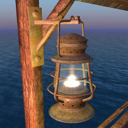 Hurricane Lamp for pirate themed bedroom
