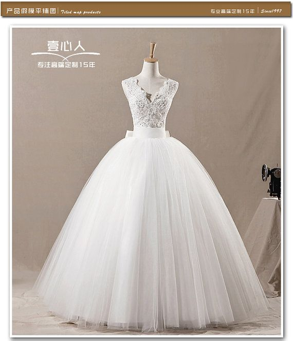 lovely white elegant fancy customer made princess lace wedding dress
