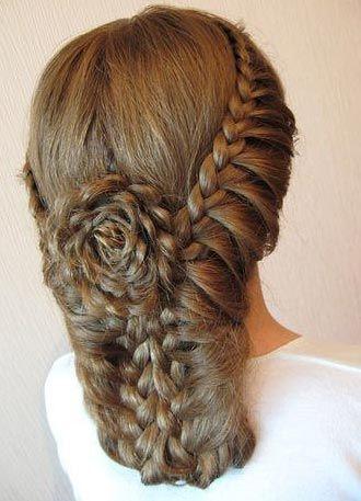 Lace braids + flower