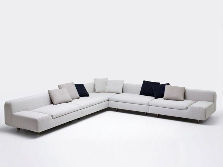 Sofá de tela con funda extraíble ALLNEW by Paola Lenti diseño Francesco Rota