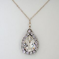 Vintage: Teardrop Necklace, Vintage Teardrop, Vintage Wedding, Vintage Necklace, Jewels, Vintage Jewelry