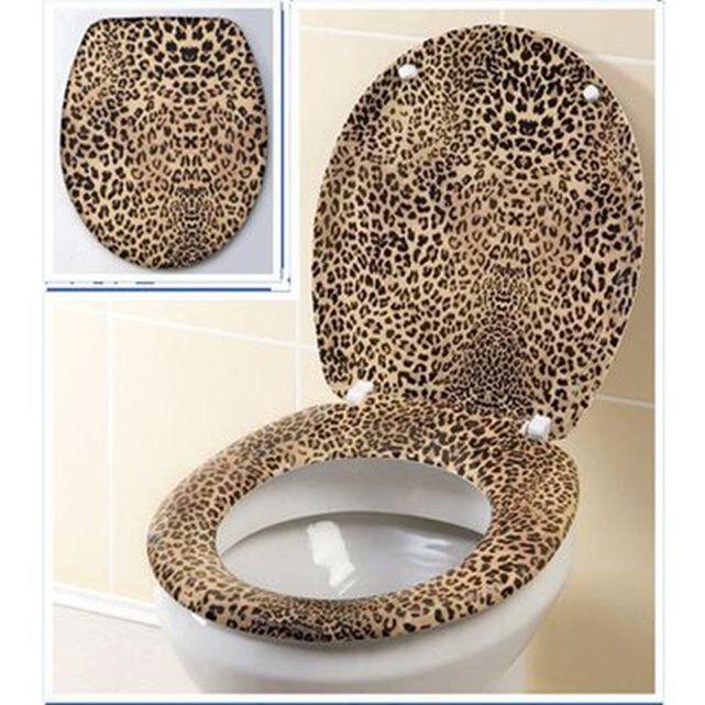 Abattant WC Mélamine - Leopard WENKO : prix, avis & notation, livraison.  Un abattant WC qui fait rentrer la savane dans vos toilettes !FICHE TECHNIQUE- Marque : Wenko- Modèle : Abattant WC leopard- Matière : mélamine FONCTIONNALITÉS - Un siège de WC hors du commun- Accessoires de montage fournis - Adaptable à toutes les cuvettes standards - Hygiénique grâce à sa surface non poreuse CARACTERISTIQUES TECHNIQUES - Poids : 2 Kg- Dimensions : 45 x...