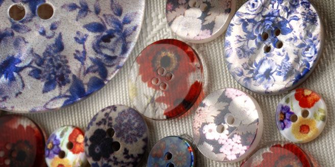 colourful buttons from Bedecked Haberdashery