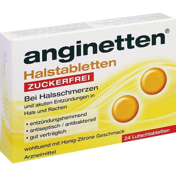 ANGINETTEN Halstabletten zuckerfrei:   Packungsinhalt: 24 St Lutschtabletten PZN: 00188110 Hersteller: MCM KLOSTERFRAU Vertr. GmbH Preis:…