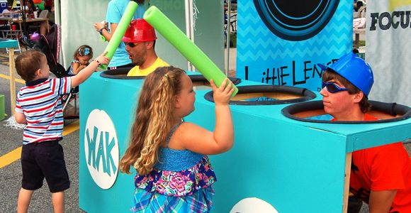 Human Whack-A-Mole. This would be SO fun for downtown events!