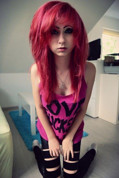 Hot red hair teen emo scene girl naked-7146