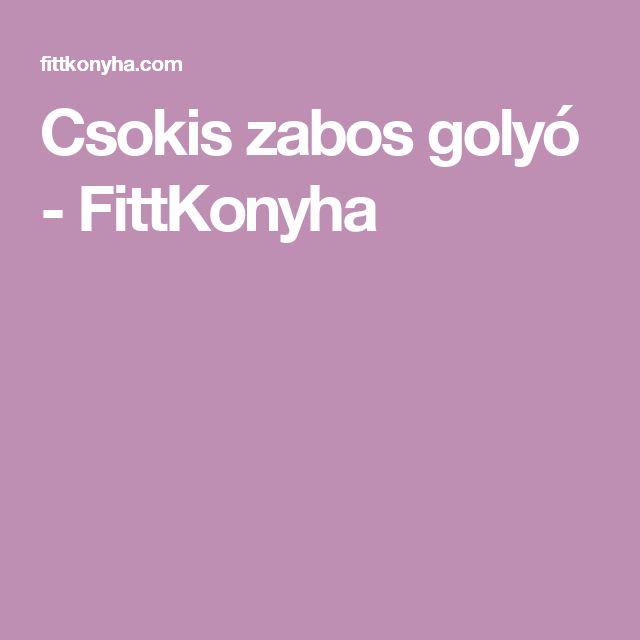 Csokis zabos golyó - FittKonyha