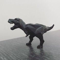 Low-poly t-rex   • Download on cults3d.com • #3Dprinting #3Dprint #3Ddesign #STLmodel #STL file #3Dmodel #3Dprinter #Impression3D #Imprimante3D #Fichier3D #Design #3Dmodeling #3D #impresora3D #impresion3D #3Dmodelo