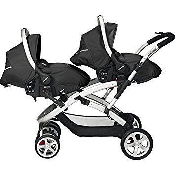Casual Play-Doppel-Kinderwagen s-twinner + 2Schutzhüllen Sono graphit