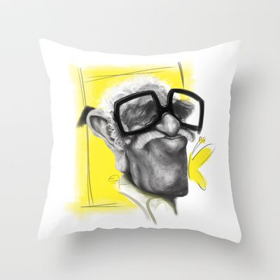 Nobel #Gabo Throw Pillow by Sant Toscanni - $20.00