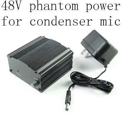 Высота + 48 фантомного электропитание питания для конденсатор студия звукозаписи микрофон