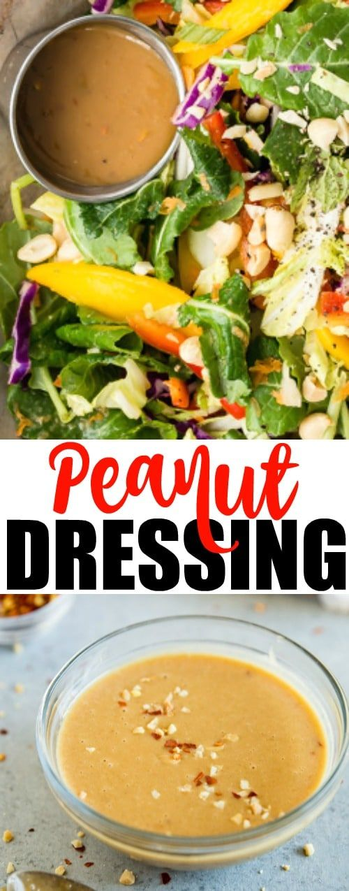An easy recipe for creamy, delicious Thai Peanut Dressing. Made from mostly pantry ingredients, this dressing is delicious on salads, grilled chicken, or for dipping your favorite appetizers!