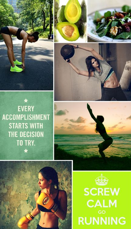 Pretty collage. Some of my favorite motivational photos in it! :)