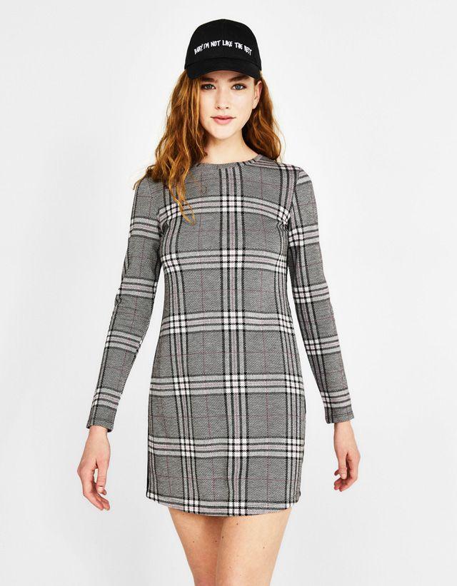 best service 4345d 6a700 Short dress with side stripes | Bershka | Things to Wear ...