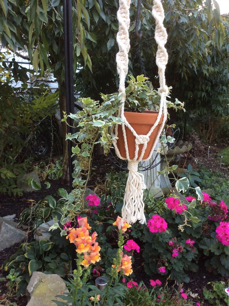 Sage | Macrame Plant Hanger | 40 inch by ButtermilkLaneFibers on Etsy https://www.etsy.com/ca/listing/563692427/sage-macrame-plant-hanger-40-inch