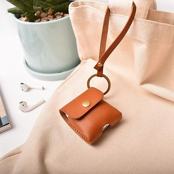 AirPod Case, Leather AirPod Case with Strap, Airpods Case