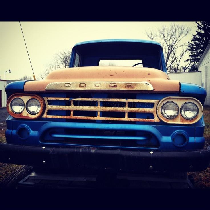 Old Dodge pickup truck.