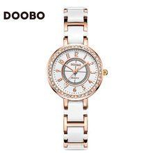 Marca de fábrica famosa DOOBO Top marca de Relojes de lujo de Las Mujeres Pequeño reloj de Moda Pulsera de Las Señoras Relojes de Cuarzo Mujeres Montre Femme(China (Mainland))