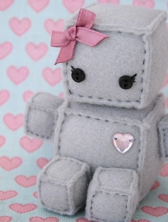 Adorable girl robot