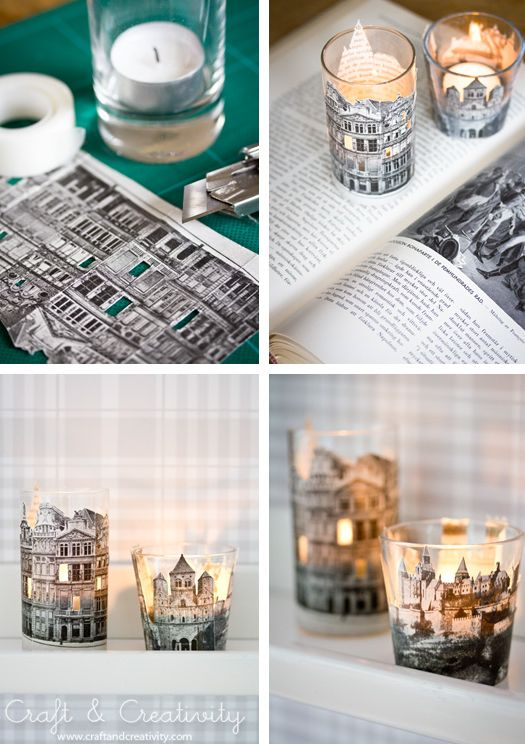Make charming Shabby votives tutorial and 45 BEST Shabby Lifestyle Decor & Accessory DIY Tutorials EVER!! From MrsPollyRogers.com