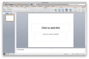 PowerPoint is used in the classroom by students and teachers, in order to show presentations and projects of certain curriculum.