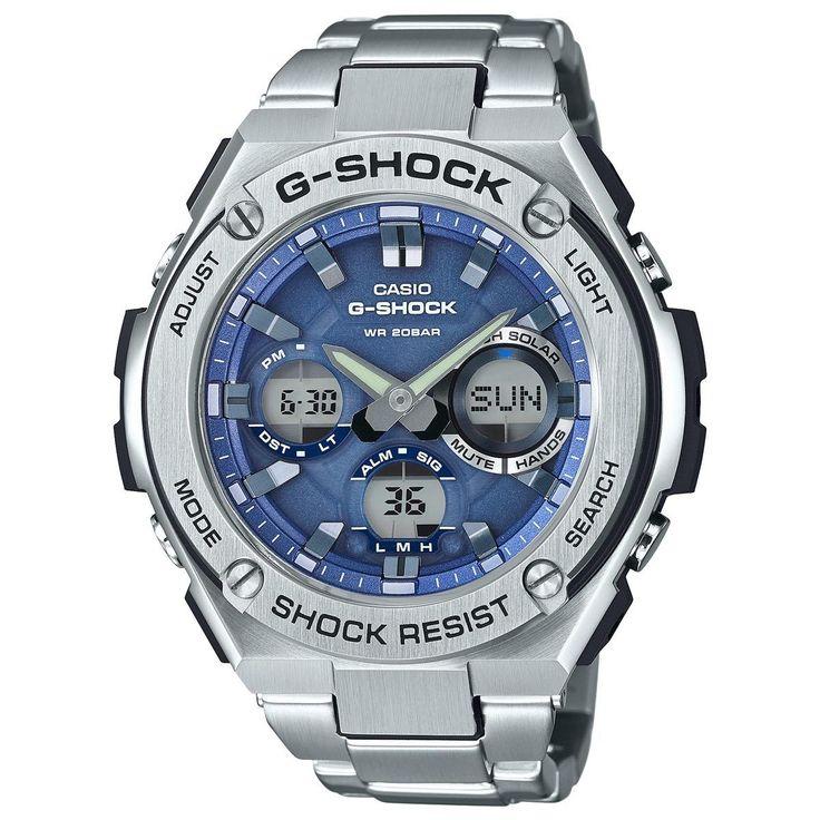 Casio G-SHOCK GSTS110D-2A G-Steel Tough Solar Stainless Steel 200m Mens Watch