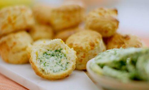 Nadiya Hussain cheese scones with chive butter recipe