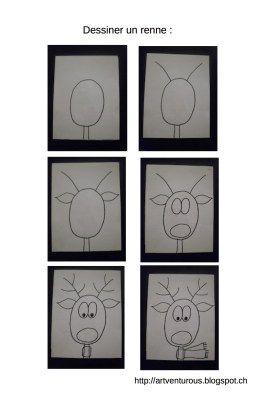 dessiner un renne                                                                                                                                                                                 Plus