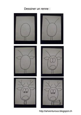 dessiner un renne