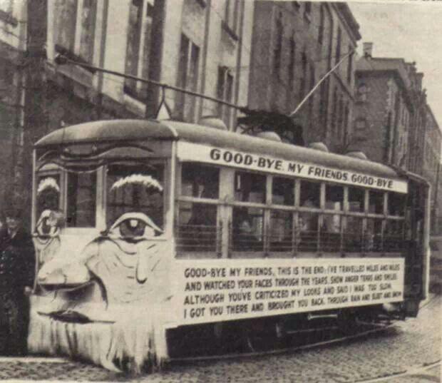 The last trolley car in halifax nova scotia 1949