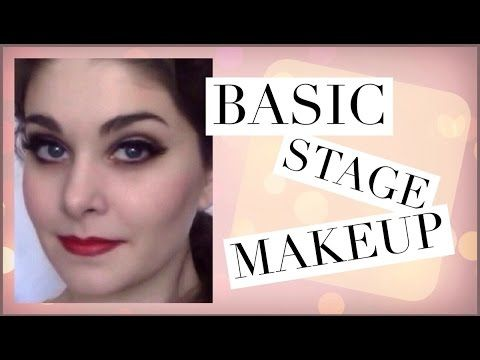 Basic Stage Makeup Tutorial | Kathryn Morgan - YouTube