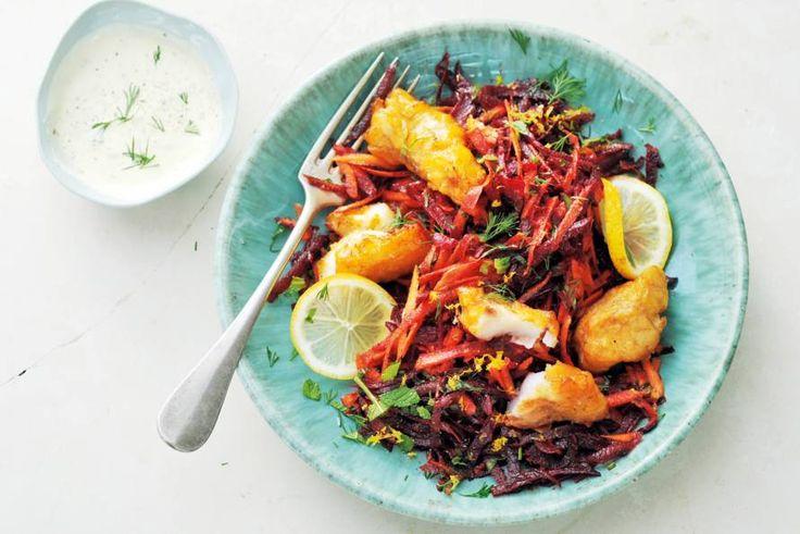 Zoetige winterpeen komt in het koude seizoen echt tot z'n recht. In deze stevige salade helemaal! - Recept - Allerhande