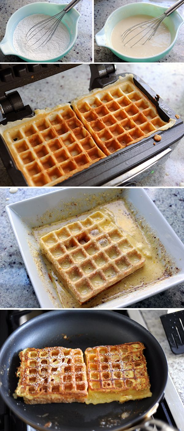 How to make Waffle French Toast @Rayna Low  you need to make me this next time I am home.