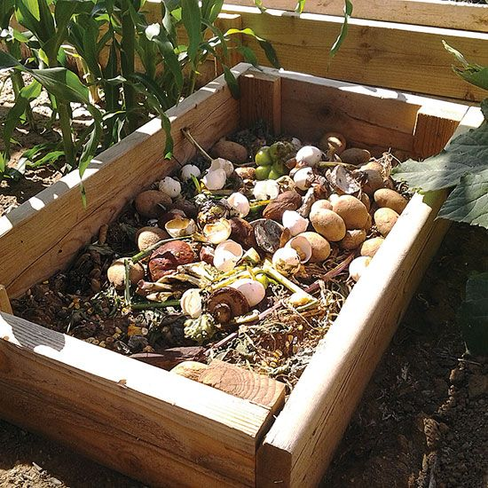 """""""Small Homemade Compost Bins"""" A portable mini-composter built from scrap lumber can be easily sized for single-member households. From MOTHER EARTH NEWS Magazine"""