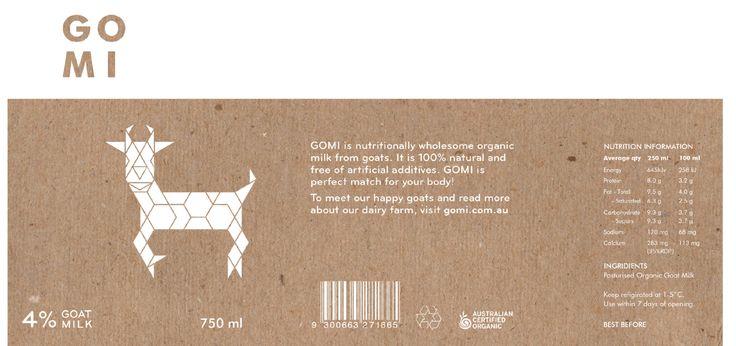 Branding - Packaging - Goat Milk - Label - Layout