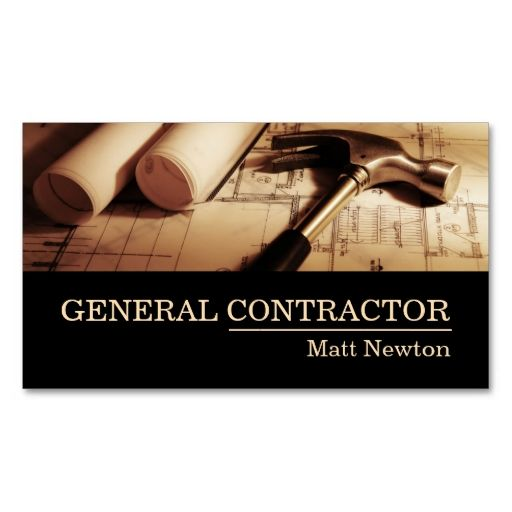 Best 25 construction business cards ideas on pinterest for Be your own general contractor