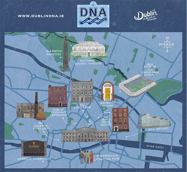 North Dublin tourist attractions collaborate to form the city's DNA trail (PHOTOS) - IrishCentral.com