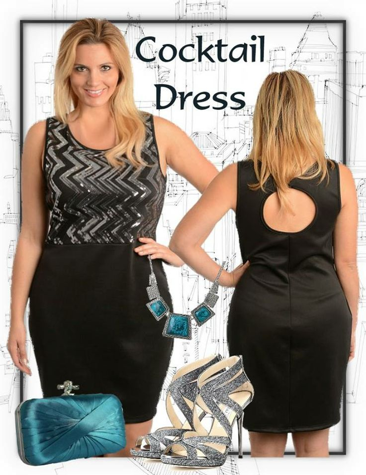Need a new dress for that special event or night date...then this dress with a hint of sparkle will be a flattering choice. Add the right accessories for a breathtaking final touch.  Available in Plus Size 16 and 18 from http://www.citystylechic.com.au/new-arrivalssequinned-bodice-black-dress-with-keyhole-detail
