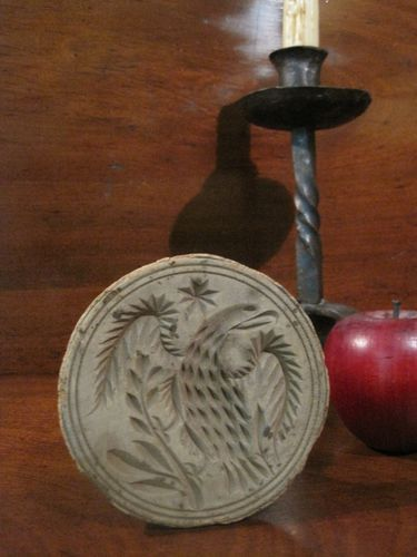 Antique s new england wooden deeply carved quot american