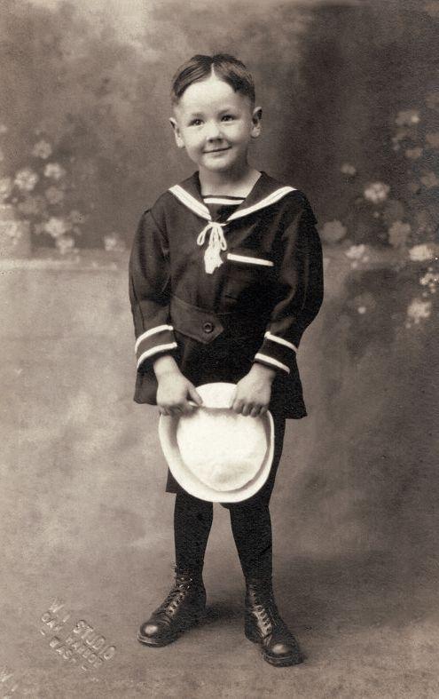 +~+~ Vintage Photograph ~+~+  Little Sailor Boy ~  c.1925